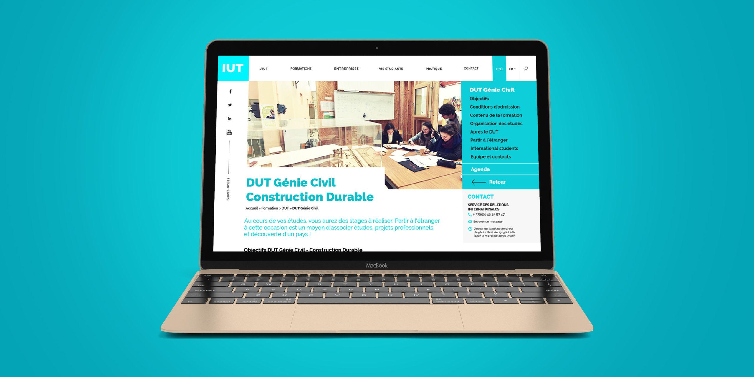 Design et développement de site internet pour IUT La Rochelle