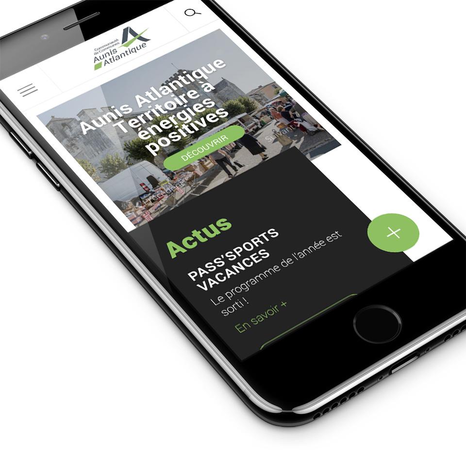 Site CdC Aunis Atlantique responsive design