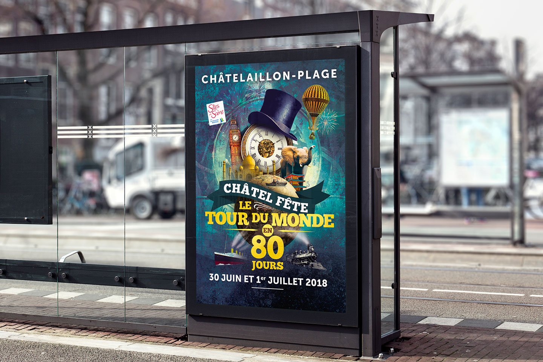 Création de l'affiche Châtel en fête 2018