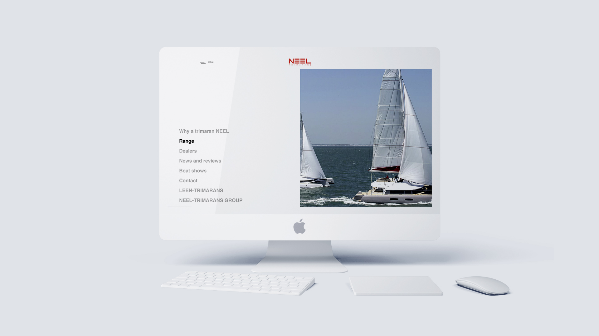 Design et développement de site internet pour NEEL-TRIMARANS