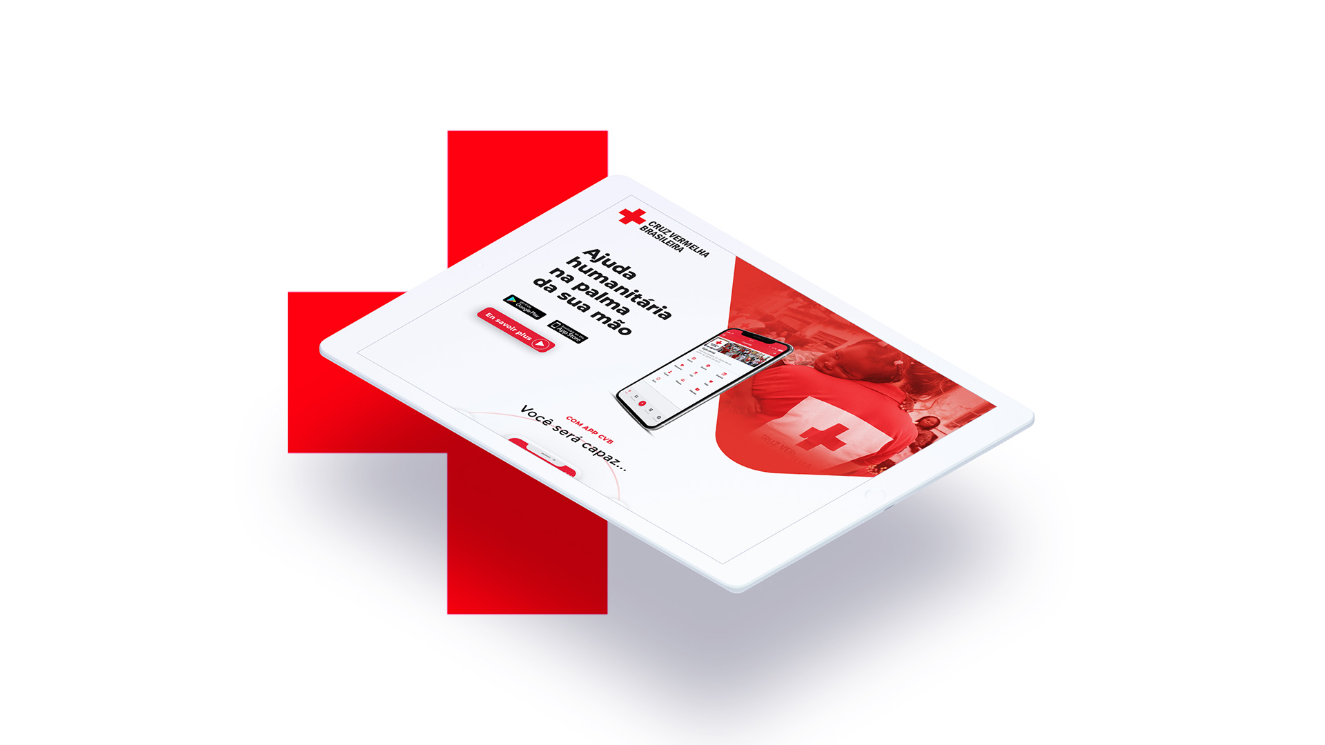 Design et développement de landing page, Motion design pour La Croix Rouge