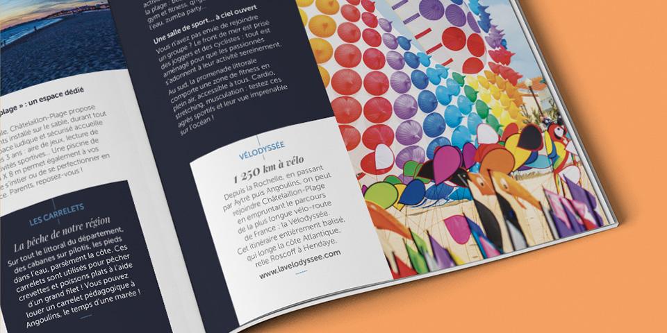 Détail page intérieure brochure touristique Châtelaillon-Plage.