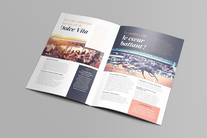 Pages intérieures brochure touristique de Châtelaillon-Plage par agence Beekom