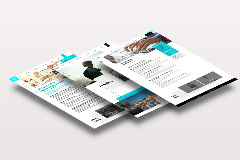 Webdesign et intégration de site internet de l'IUT La Rochelle
