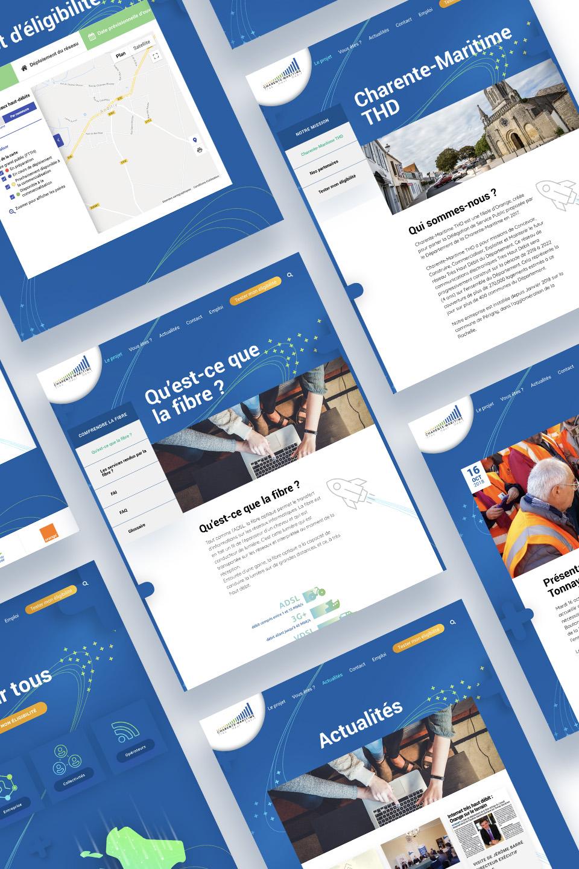 Pages secondaires site internet Charente-Maritime Très Haut Débit