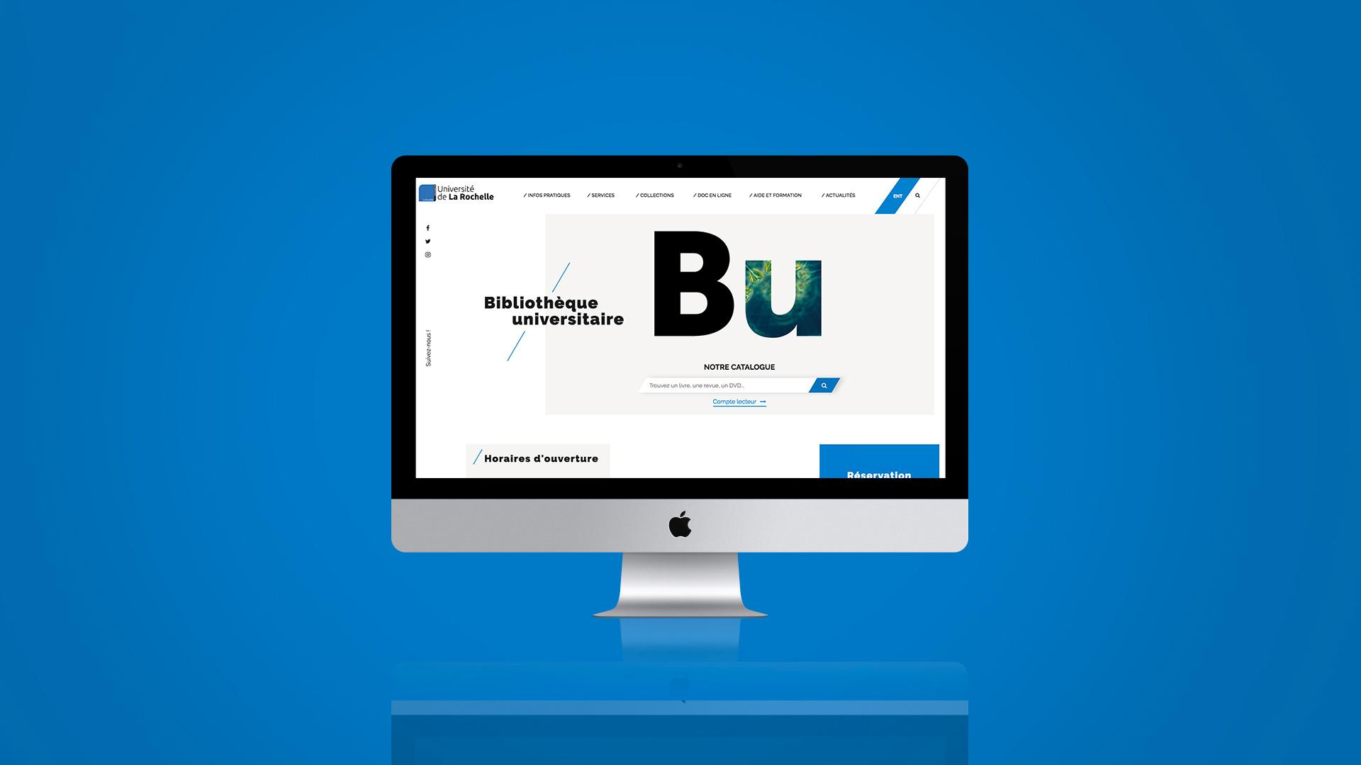 Design et développement de site internet pour BU La Rochelle