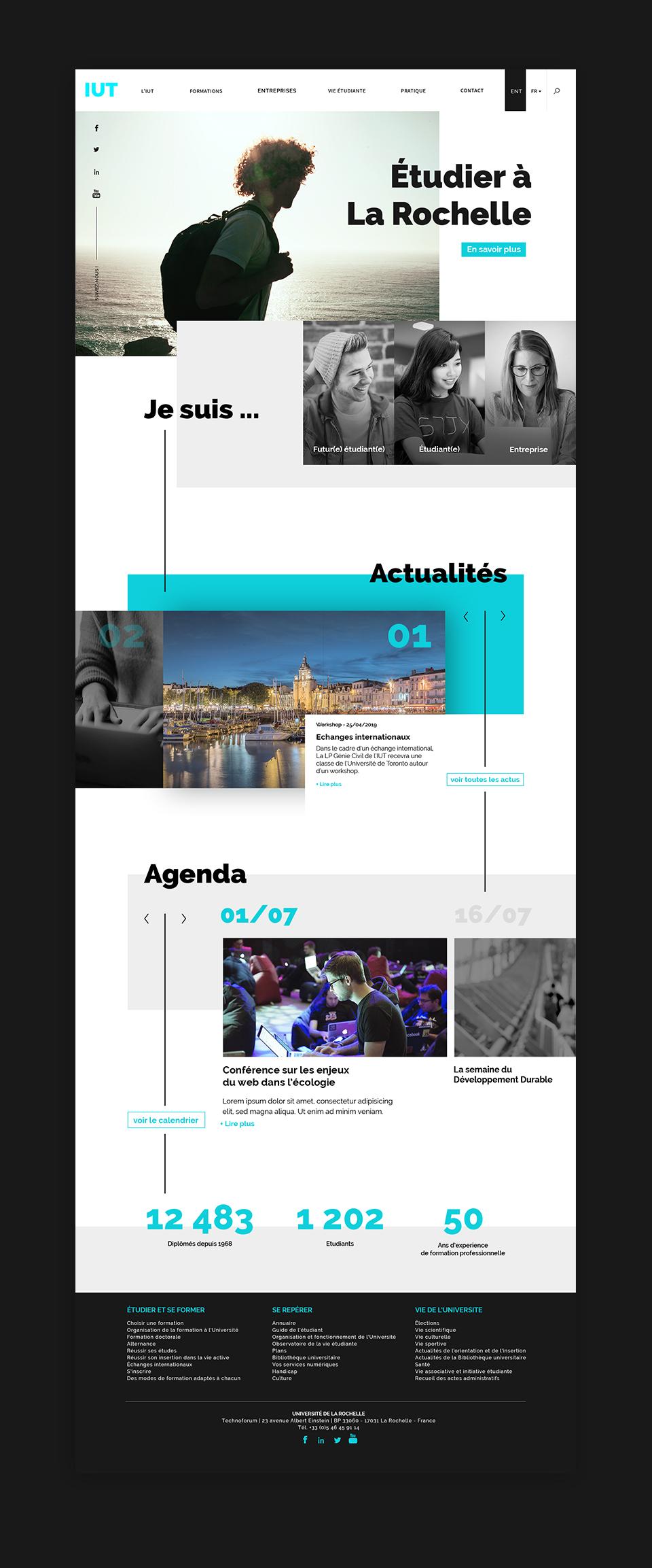 Home page site web IUT La Rochelle