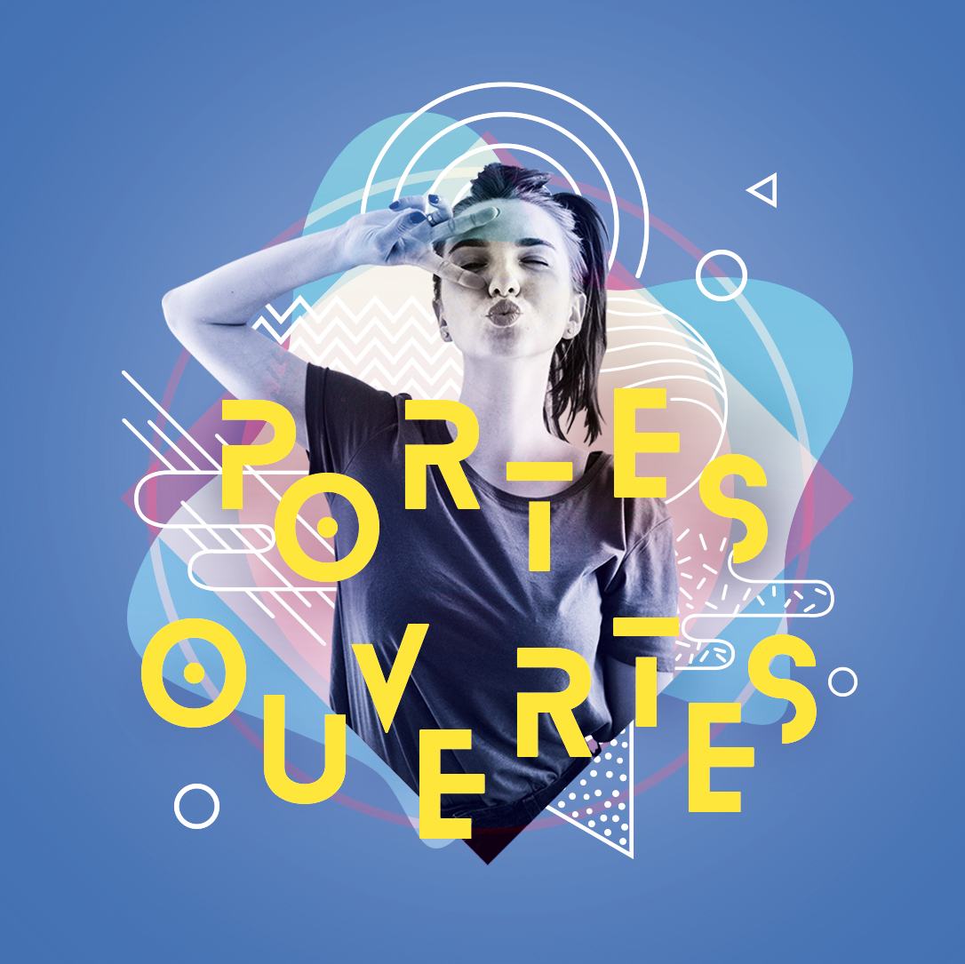 Visuel affiche des portes ouvertes de La Rochelle Université réalisé par l'agence de communication Beekom