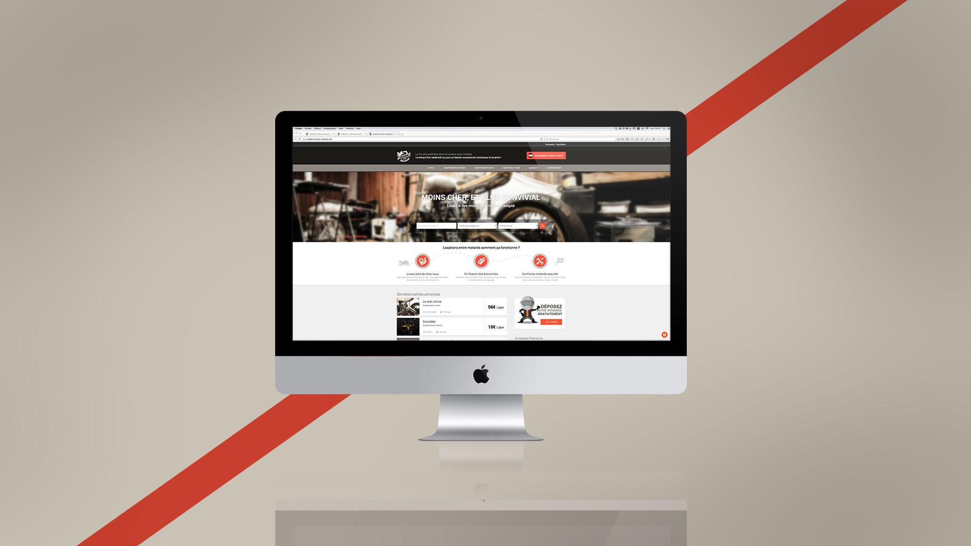 Design et développement de site internet pour Entre motards