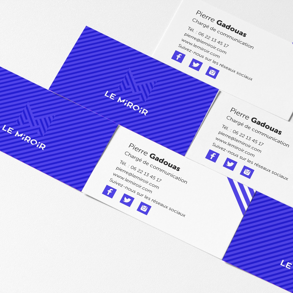 Declinaison du logo sur cartes de visites