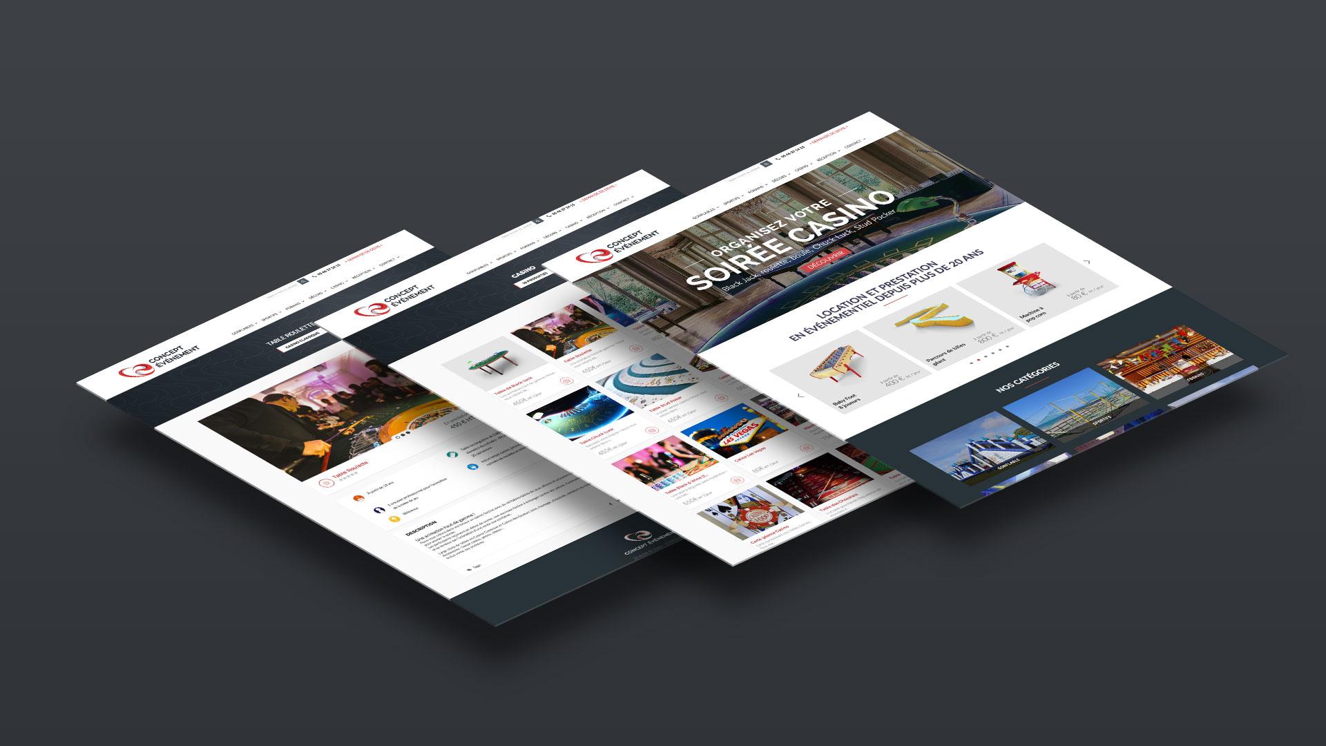 Refonte site internet & identité visuelle pour Concept Evenement