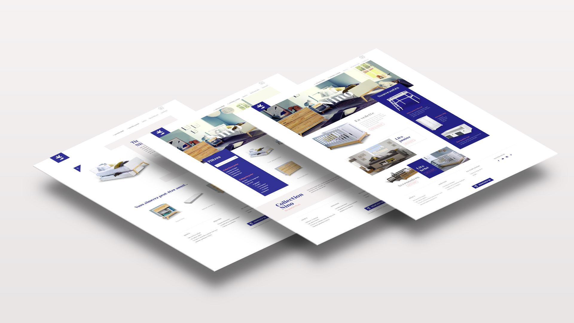 Design et développement de site internet pour Idkids
