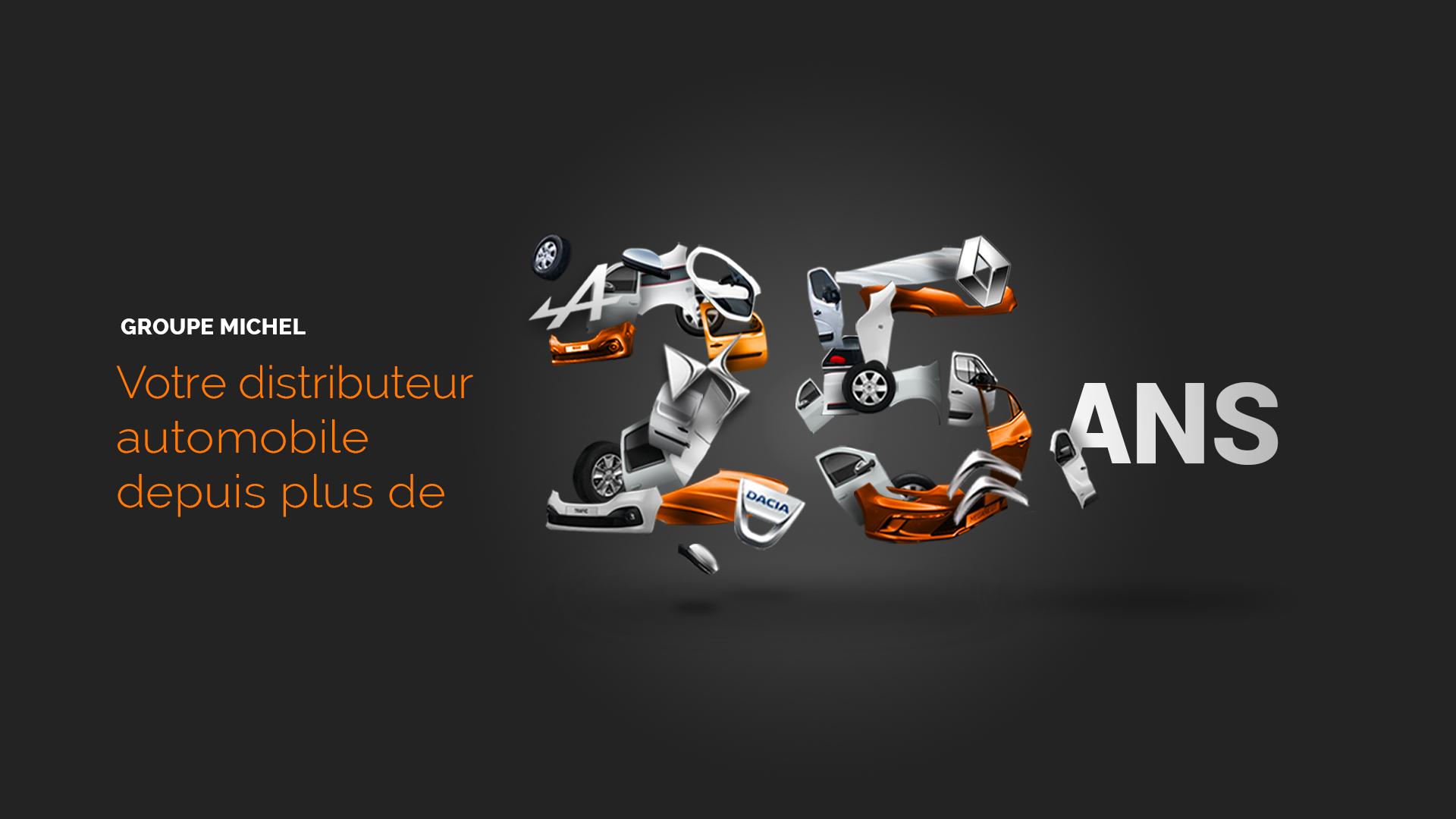 Design et développement de site internet pour Groupe Michel