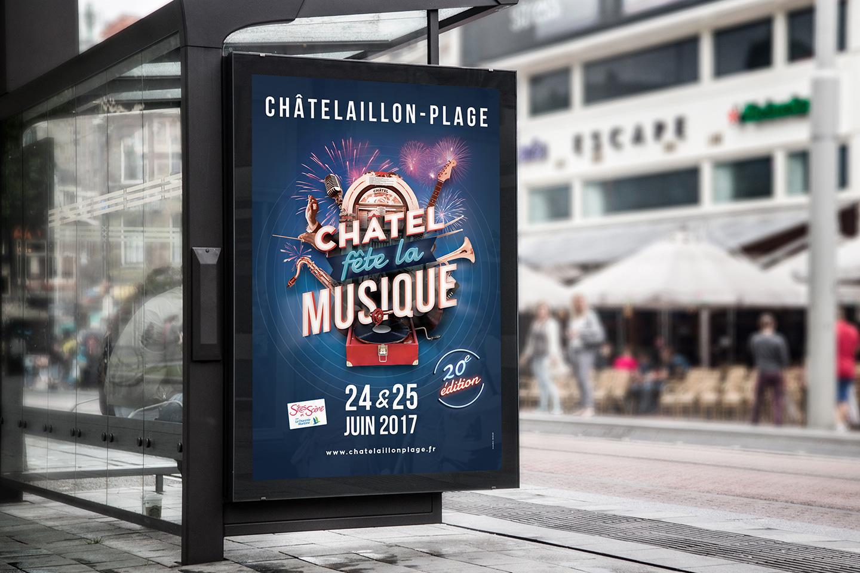 Création de l'affiche Châtel en fête 2017