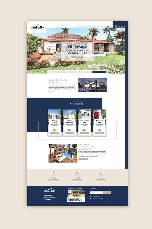 Page accueil site Domidylle Agence immobilière La Rochelle