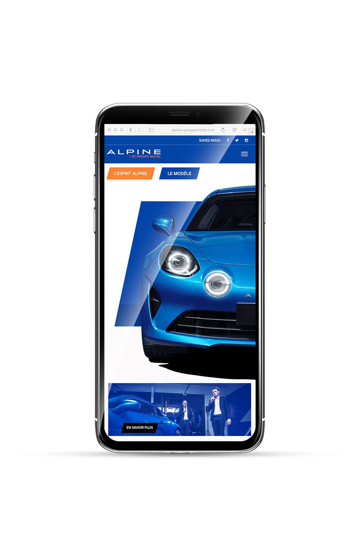 Présentation responsive design site internet Alpine La Rochelle