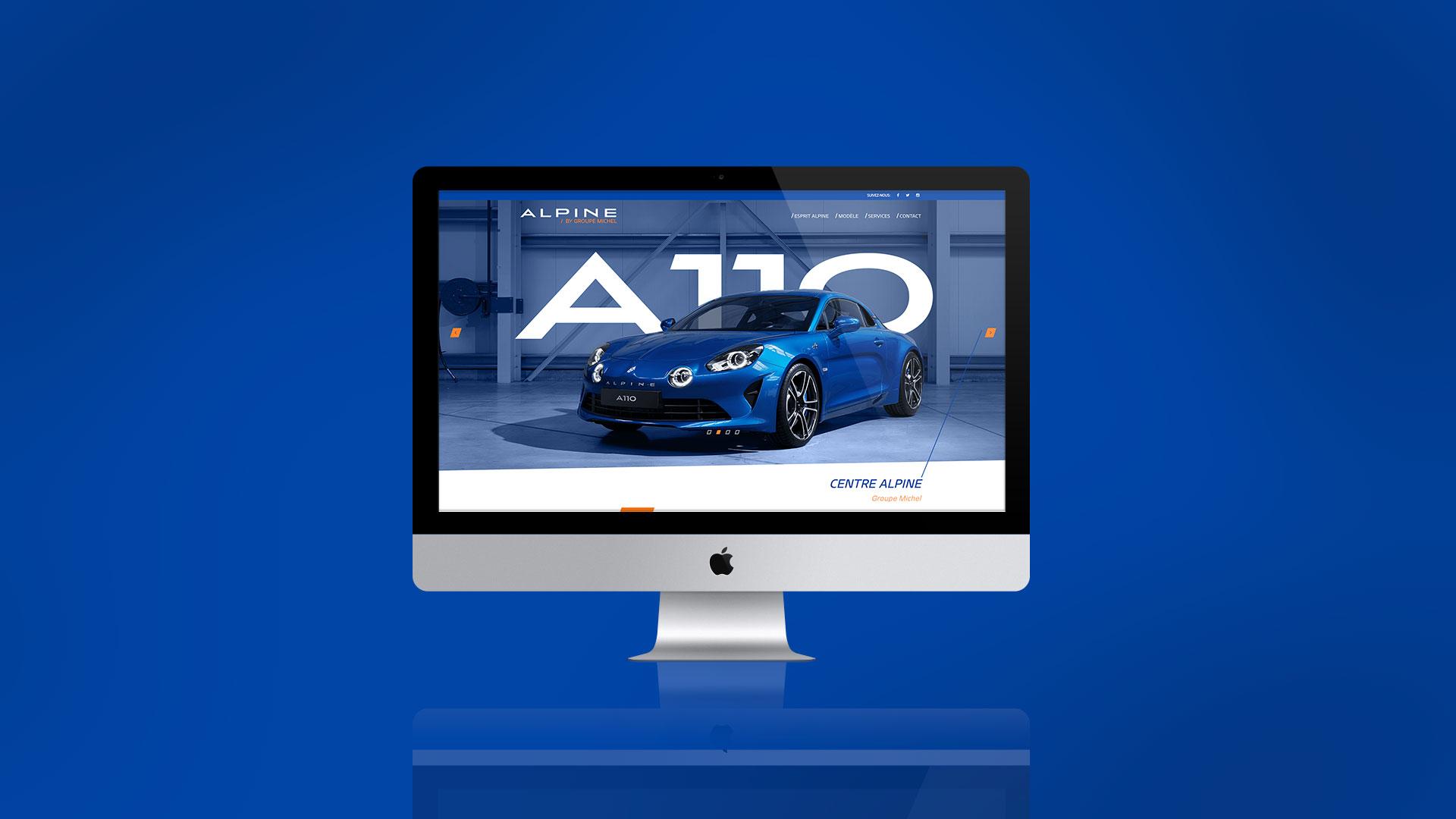 Design et développement de site internet pour Alpine La Rochelle