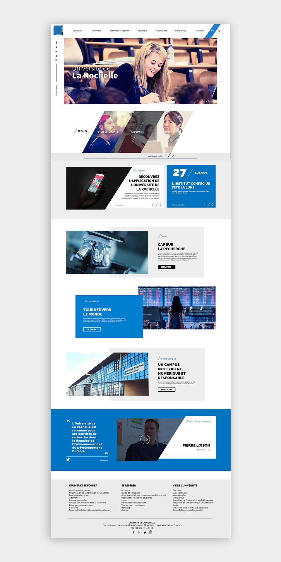 Page de présentation de la nouvelle A110 par Beekom Studio